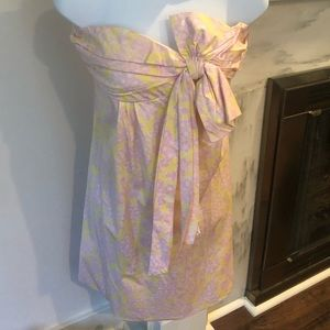Lilly Pulitzer strapless bow dress